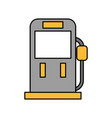 gasoline fuel pump filling station equipment icon vector image