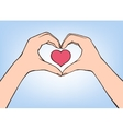 hand making heart sign Female vector image vector image