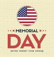 happy memorial day collection style card vector image vector image