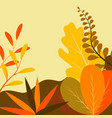 in flat linear style - autumn vector image vector image