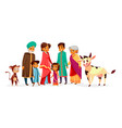 indian family cartoon vector image vector image