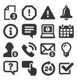 information and notification icons on white vector image vector image
