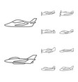isolated object commercial and flight symbol vector image vector image