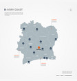 ivory coast infographic map vector image