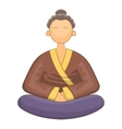 japanese monk icon cartoon style vector image vector image