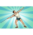 Javelin thrower athletics summer sports games vector image