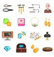 Jeweller Icons Set vector image vector image