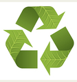 Leaf Recycle Logo vector image vector image