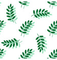 leaf seamless pattern vector image vector image