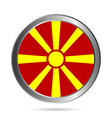 Macedonia flag button vector image vector image