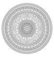 mandala stroke bohemian pattern creative vector image vector image