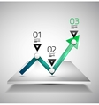 Modern infographic design template - arrow graph vector image