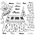 music symbols alphabet vector image vector image