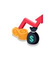 mutual found money icon vector image