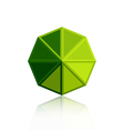 Octagon triangle green icon vector image vector image