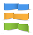 Origami banners for web design vector image