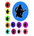 plumber logo silhouette vector image vector image