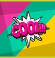 pop art comic text vector image