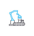 production line linear icon concept production vector image vector image