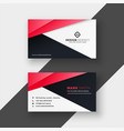 professional red geometric business card design vector image vector image