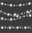 realistic 3d detailed christmas lights strings set vector image vector image