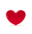 red heart isolated on white background st vector image