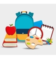 school supplies design vector image vector image