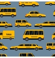Seamless pattern of taxi icons vector image vector image