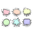 set of funny color retro comic speech bubbles vector image