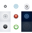 set power buttons and icons vector image