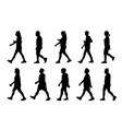 silhouette lifestyle people on white background vector image vector image