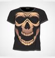 skull t-shirt design template vector image vector image