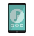 smartphone music note digital app vector image vector image
