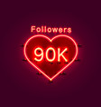 thank you followers peoples 90k online social vector image