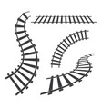 train tracks icon design vector image vector image