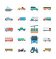 Transports Colored Icons 2 vector image vector image