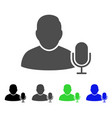 user microphone flat icon vector image