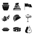 vino icons set simple style vector image vector image