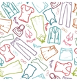 wardrobe clothing seamless pattern background vector image