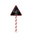 warning symbol radioactive haz vector image