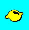 yellow lemon grunge icon hand drawn vector image vector image