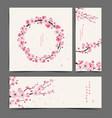 cherry blossom realistic cherry blossom vector image