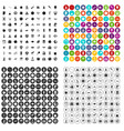 100 space technology icons set variant vector image vector image
