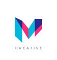 abstract letter m logo vector image