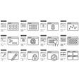 Application line icon set vector image