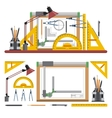 Architects and designer workplace vector image