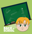 back to school cartoons vector image vector image
