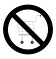 ban shopping icon vector image vector image