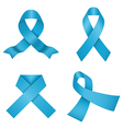 Blue awareness ribbons vector image vector image