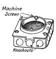 bracket box vintage vector image vector image